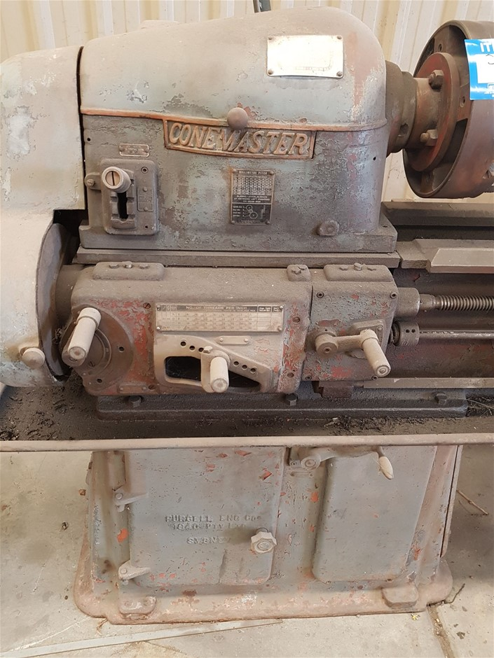 Conemaster, Purcell Eng 1940 Model Centre Lathe (Green Fields, SA)