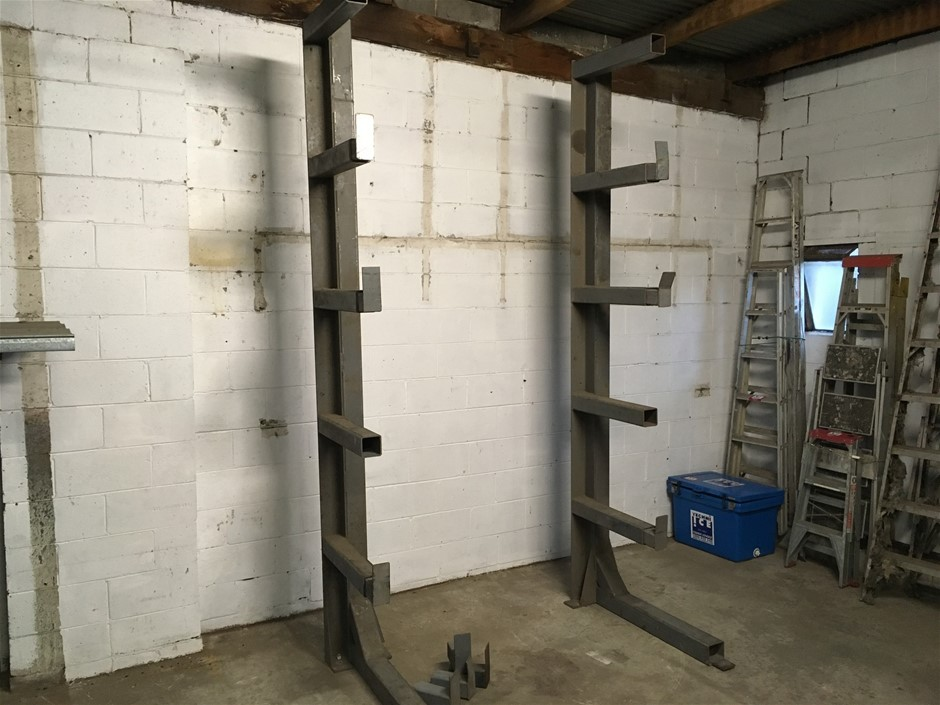 Heavy duty steel fabricated cantilever racking