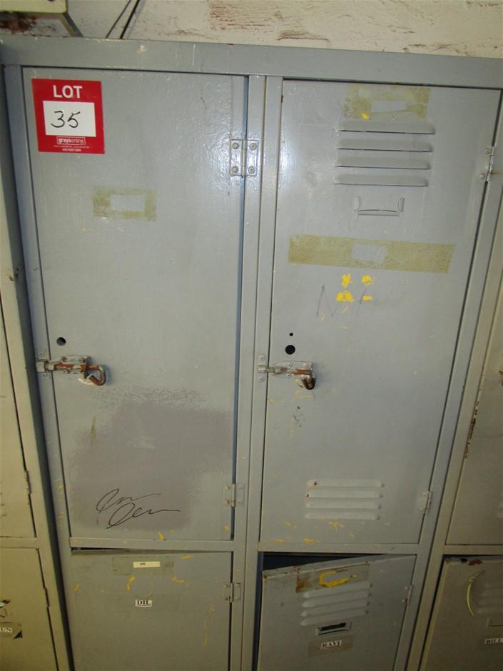 1x Steel 4 Door Locker