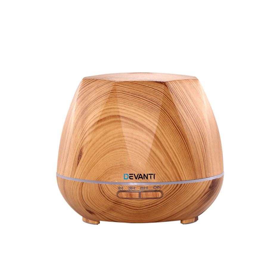 Devanti Ultrasonic Aroma Aromatherapy Diffuser Oil Electric LED Light Wood