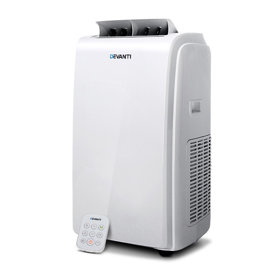 Devanti Portable Air Conditioner 4-In-1 Mobile Fan Dehumidifier 22000BTU
