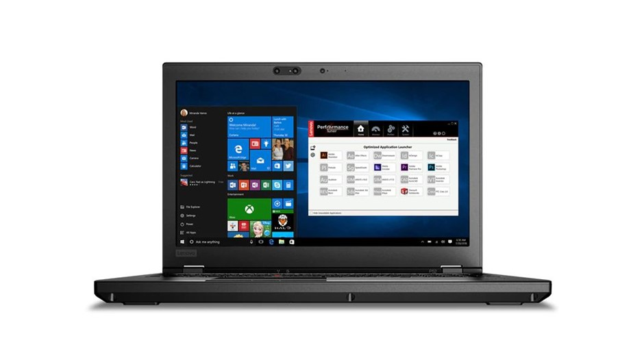 Lenovo ThinkPad P52 15.6-inch Notebook, Black