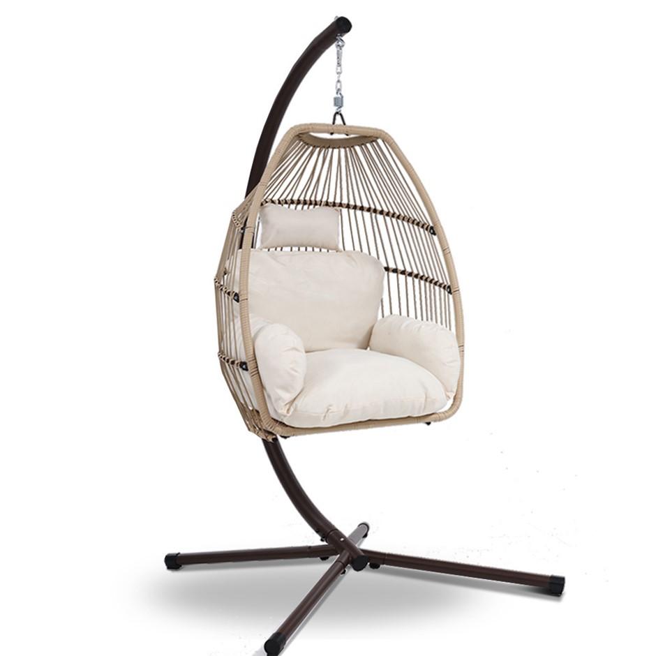 Gardeon Outdoor Furniture Egg Hanging Swing Chair Wicker Rattan Hammock
