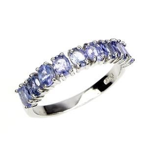 Genuine tanzanite Eternity Band Ring