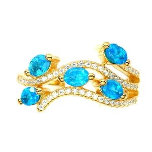 Unique Genuine Apatite Ring.