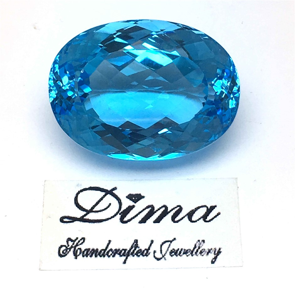 One Loose Blue Topaz, 55.07ct in Total