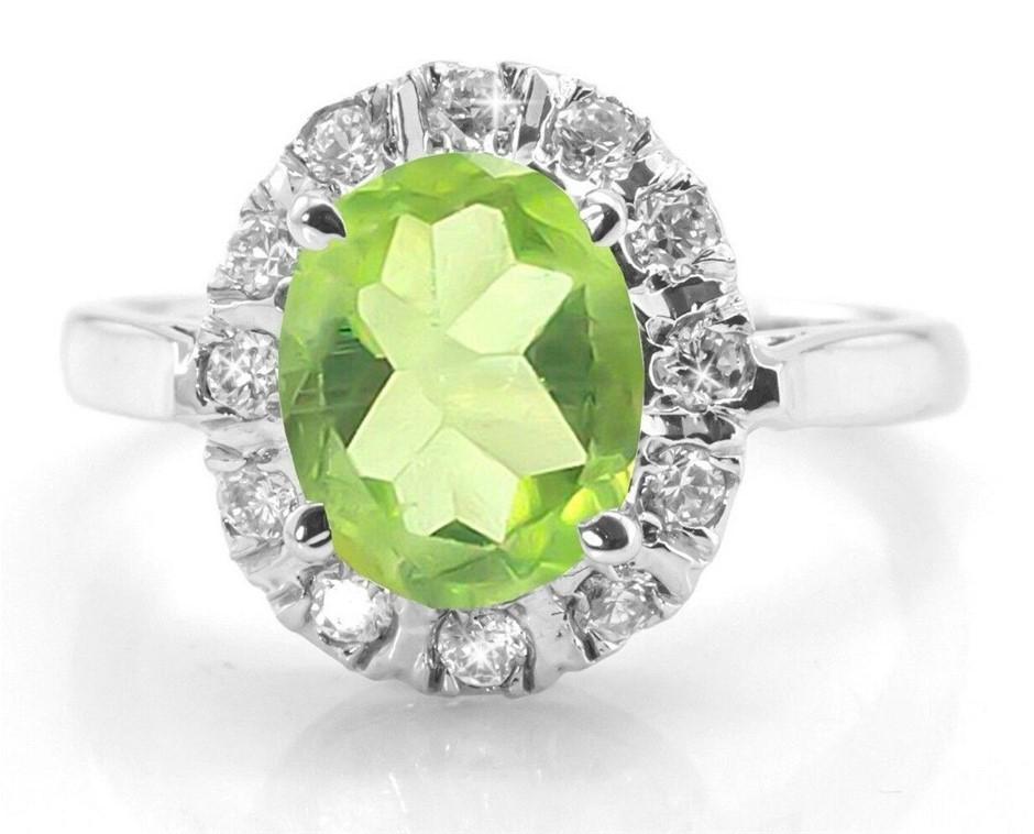 Delightful Genuine Peridot Ring