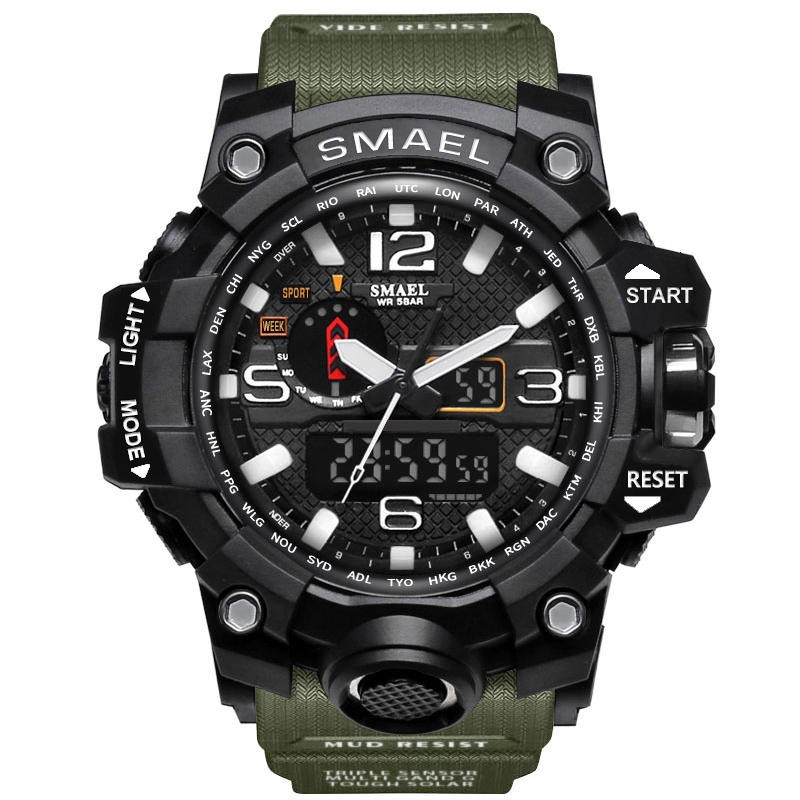SMAEL 1545 Digital Watch Dual Display Waterproof Sport Analog Quartz
