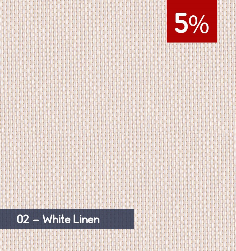 Premium 3m x 30m Roll of Blind - White Linen (5% OPENNESS)