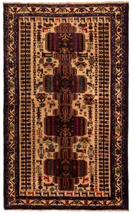 Tribal Baluchi Hand Knotted Rug Size (cm