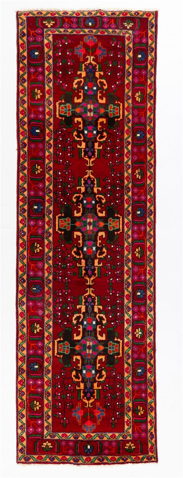Persian Mashad Hand Knotted Wool Pile Rug Size (cm): 100 x 318