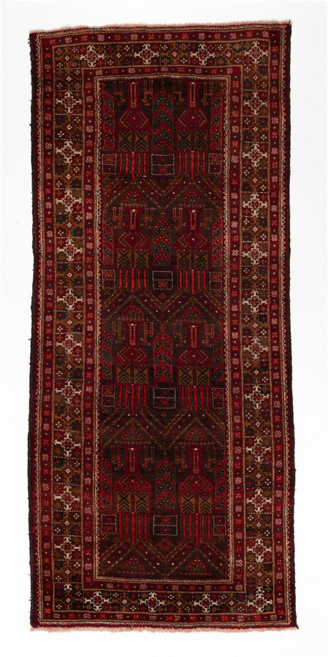 Afghan Super Kazak Hand Knotted Wool Pile Rug Size (cm): 123 x 298