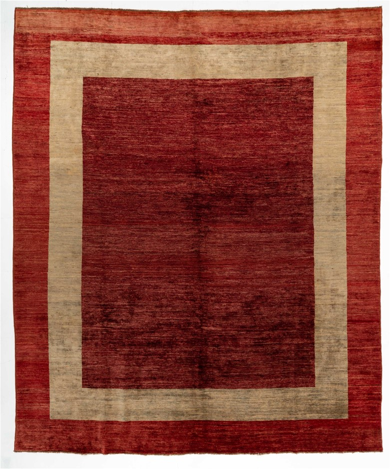 Afghan Gabbeh Hand Spun Wool Pile Rug Size (cm): 271 x 328