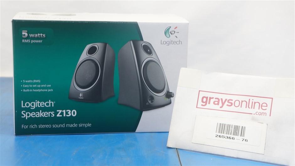 Logitech Speakers Z130 Compact Speakers (NEW)