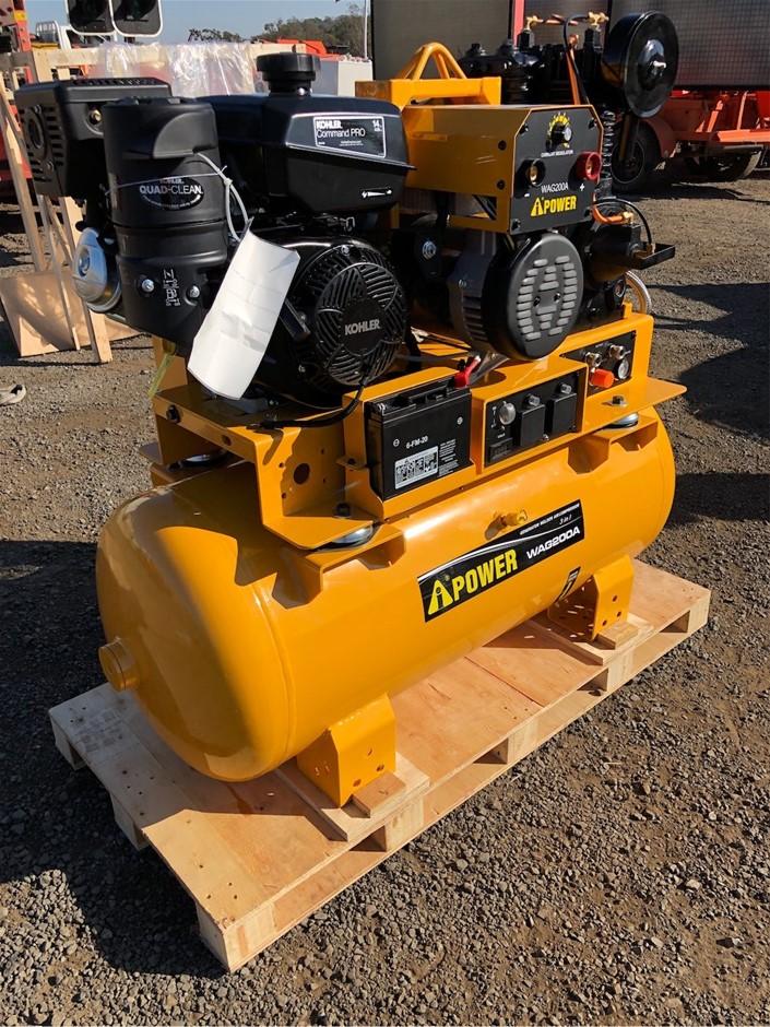 2019 I Power WAG 200 A Air Compressor Generator Welder
