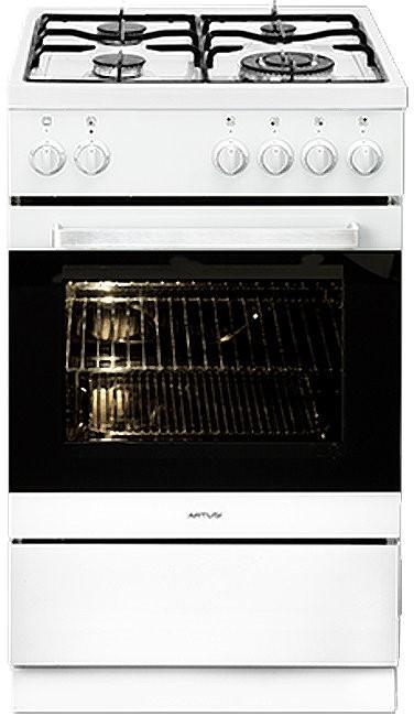 Artusi AFGE5440W 54cm Freestanding Dual Fuel Oven/Stove