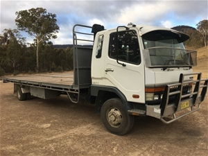 2000 Mitsubishi Fighter FK60 Flat Bed Tr