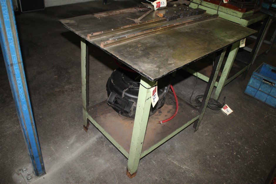 Work Shop Bench with Plate Steel Base Fitted with Linear Bearing Slide
