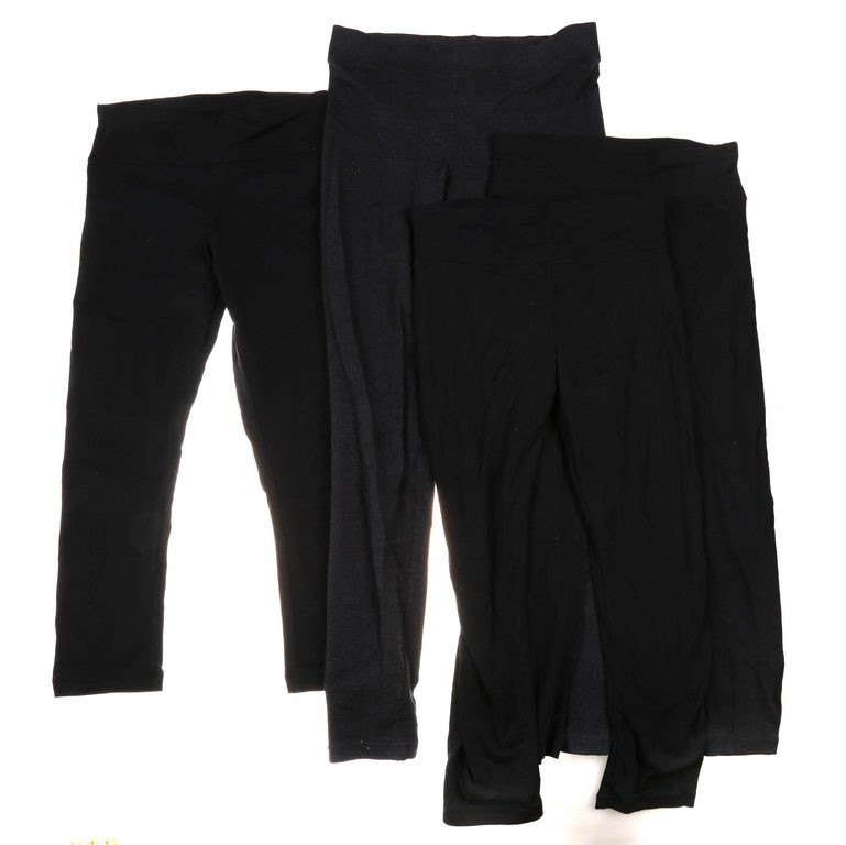 4 x ORIGINAL NICOLE MILLER Women`s Capri Length Stretch Knit Leggings, Size