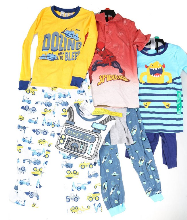 4 Sets x Assorted Boy`s Clothing, Size 7/8, Incl; CARTER`S Monster 2PC Paja