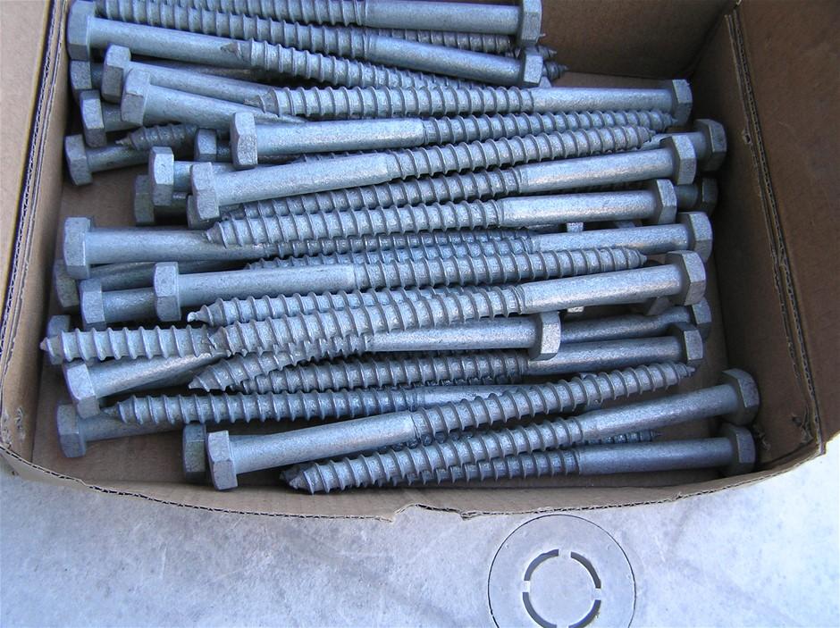STEEL HEX HEAD COACH SCREW HD GAL