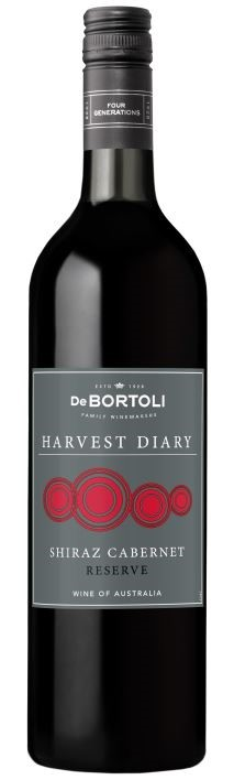 De Bortoli Harvest Diary Shiraz Cabernet 2019 (12 x 750mL) Riverina, NSW