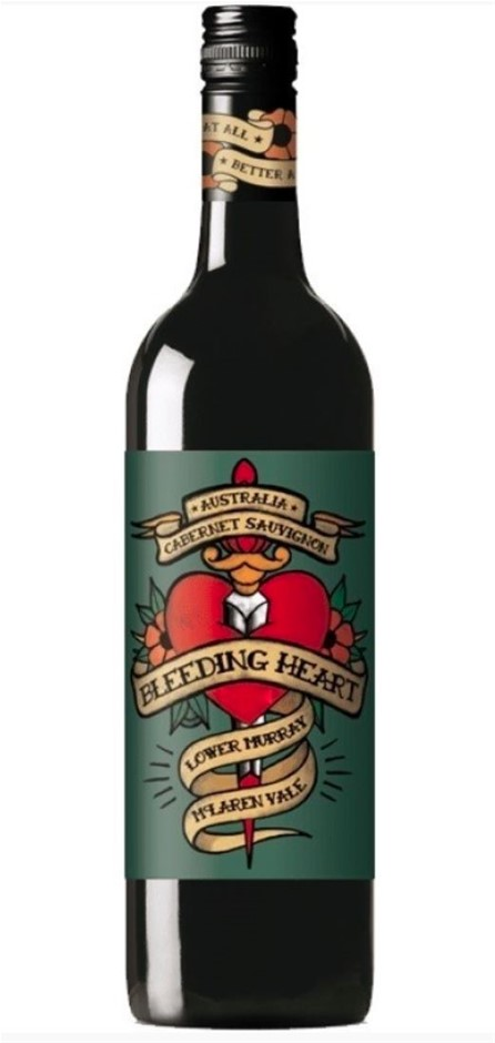 Bleeding Heart Cabernet Sauvignon 2018 (12 x 750mL), SA.