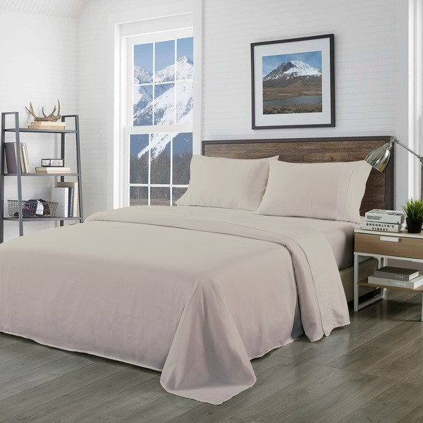 Royal Comfort Blended Bamboo Sheet Set Warm Grey - King
