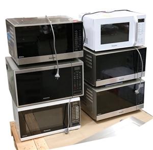 6 x Mixed Microwave Ovens, 5 x PANASONIC