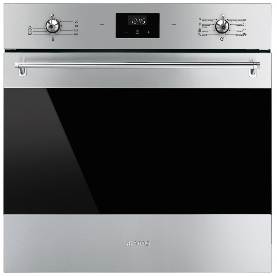 Smeg 60cm Classic Aesthetic Pyrolytic Built-In Oven - Model SFPA6300X