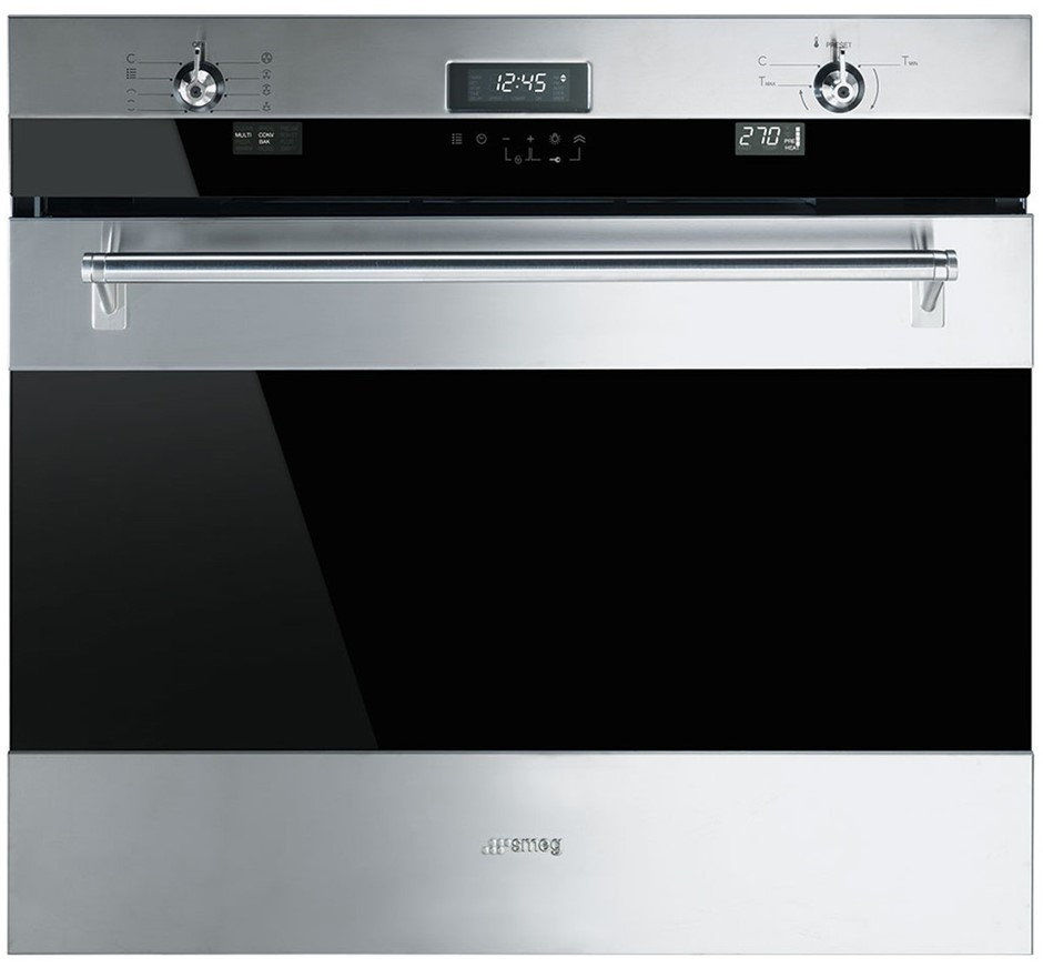 Smeg 76cm Classic Aesthetic Pyrolytic Built-In Oven - Model SOA330X1