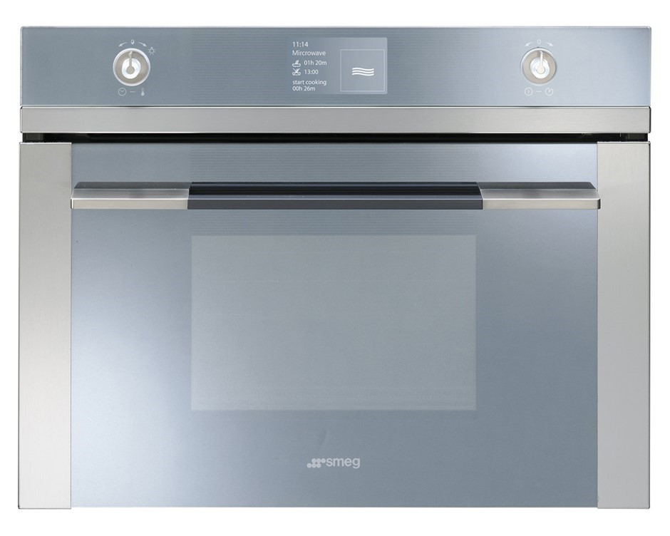 Smeg 45cm Linear Aesthetic Compact Electric Built-In Oven - Model SFA4130MC