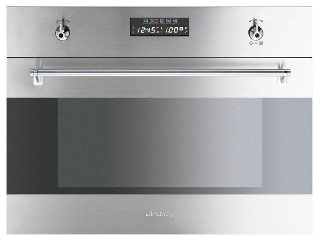 Smeg Compact Stainless Steel Steam Oven. Model: SA45VX2