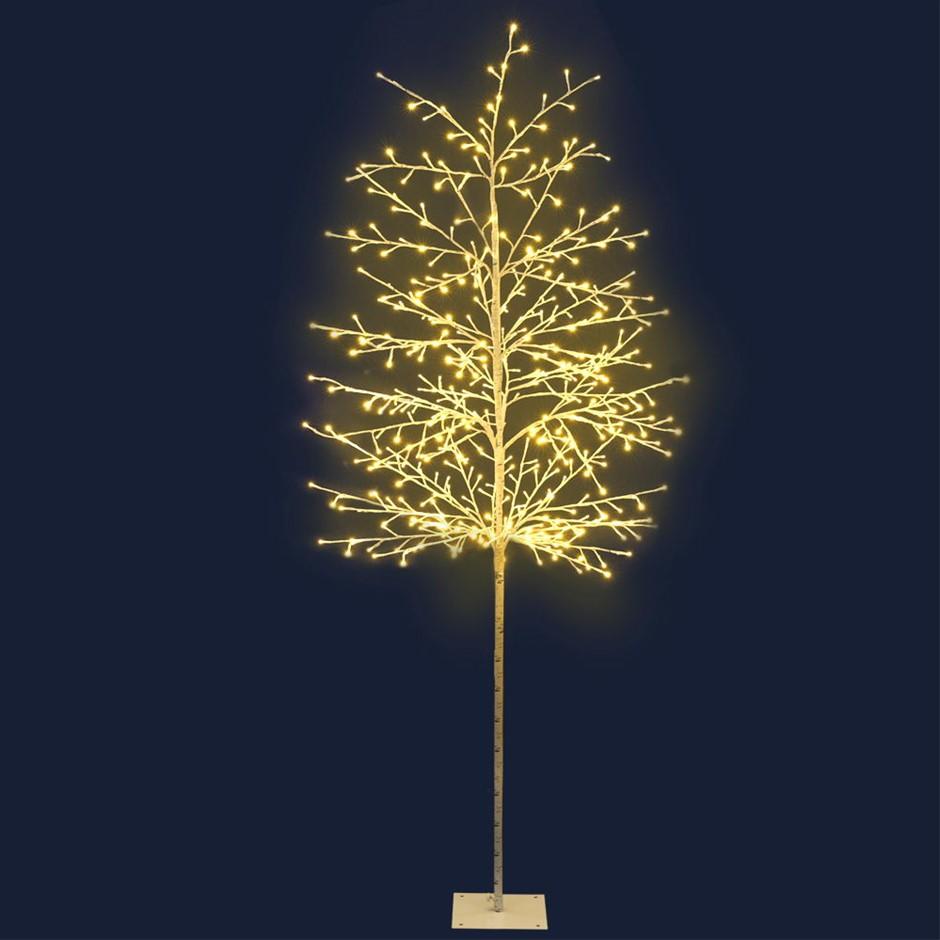 Jingle Jollys 2.1M LED Christmas Branch Tree 480 LED Xmas Warm White Optic