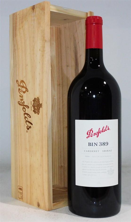 Penfolds `Bin 389` Cab Shirax 2008 (1x 1.5 L), Barossa Valley. Boxed