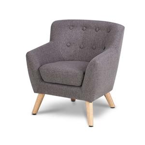 Artiss Kids Fabric Accent Armchair - Gre