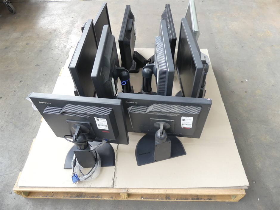 Pallet of Assorted Brand and Model LCD Monitors 6 x Lenovo T