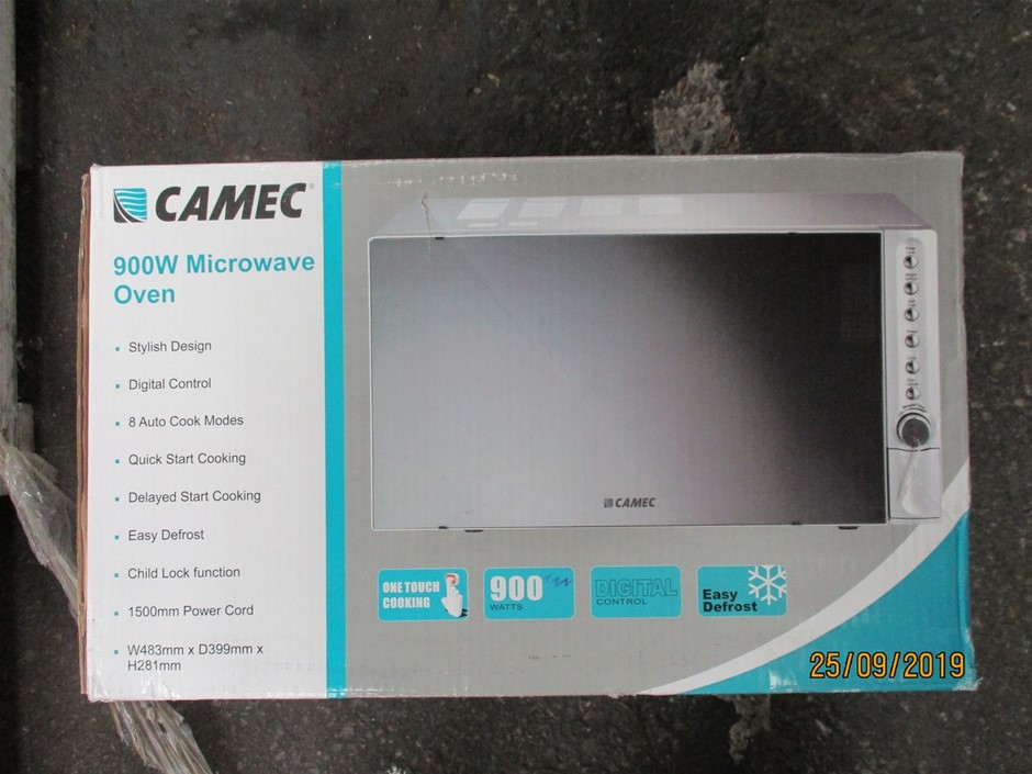 Camec 900W RV/Boat Microwave Oven
