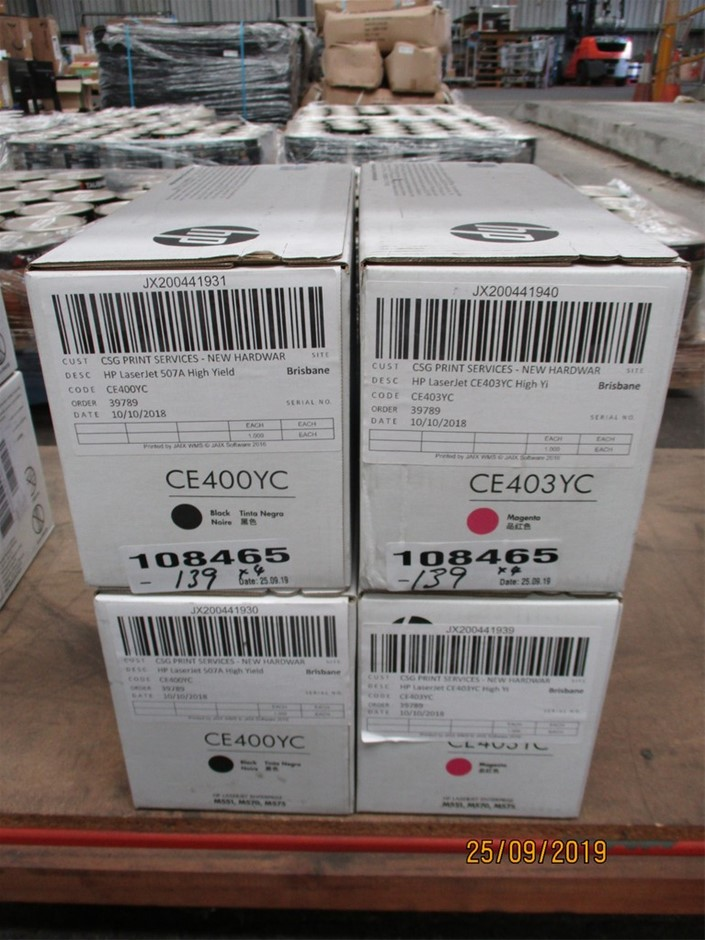 Qty 4 x HP Laser Jet Print Cartridge High Yield