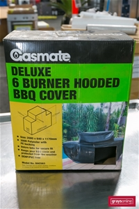 1 x 300D Polyester 6 Burner Hooded BBQ C