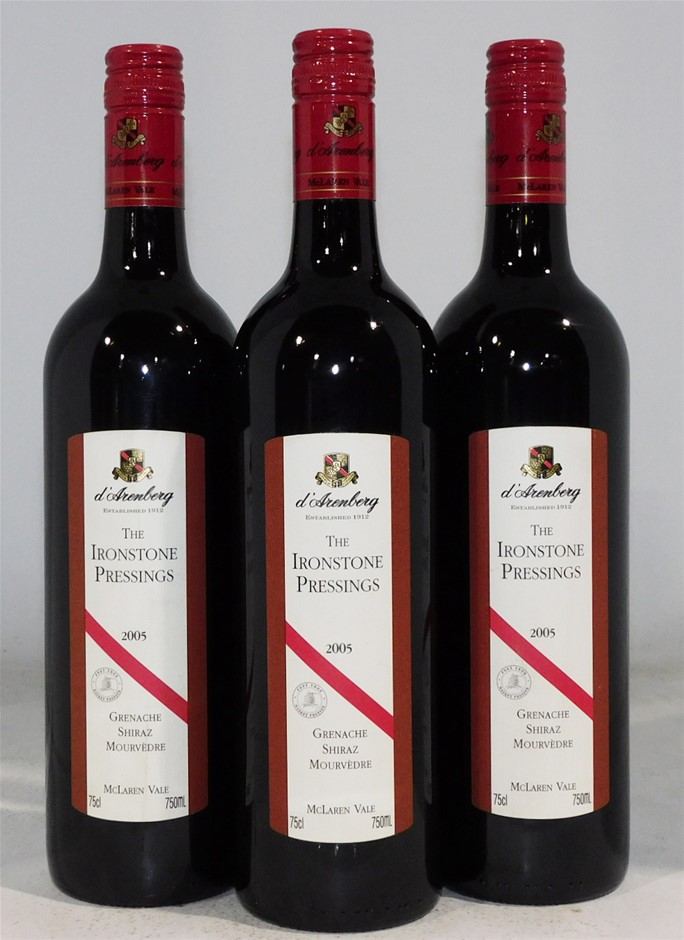 d'Arenberg 'The Ironstone Pressings' GSM 2005 (3x 750mL)