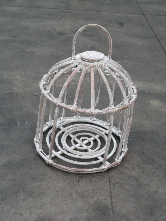 Pallet of 13 Rattan Round Lanterns (No Glass)