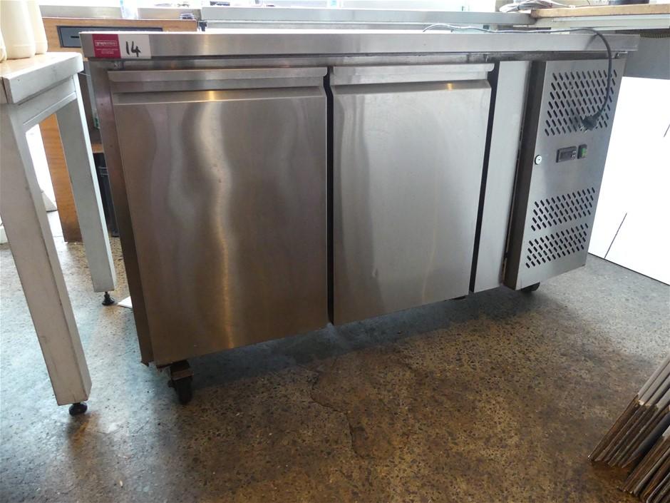 FED Australia GN2100TN Stainless Steel 2 Door Bench Refrigerator