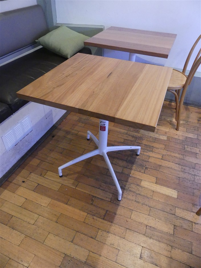 Square Wooden Topped Café Tables