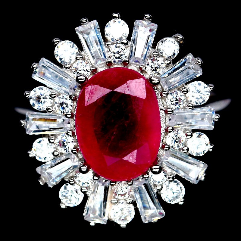 Spectacular Genuine Ruby Statement Ring.