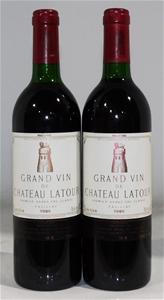 Chateau Latour Pauillac 1986 (2x 750ml),