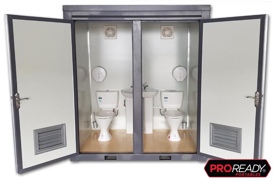 Unused Double Toilet Unit, Portable / Demountable Building