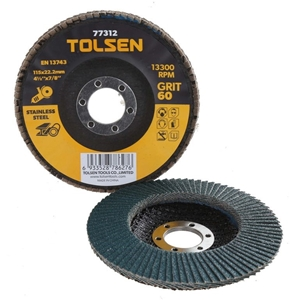 10 x TOLSEN Stainless Steel Flap Discs,