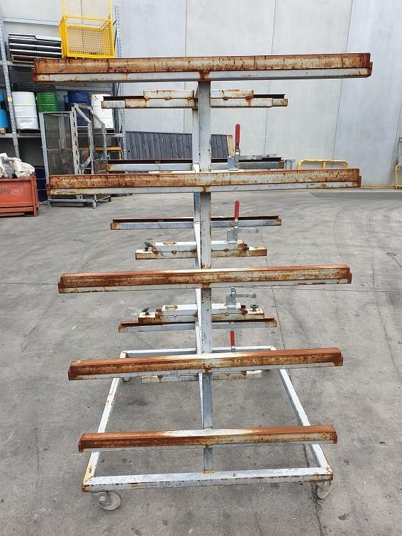 Five Teir Steel parts trolly rack on castors