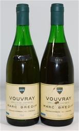 Marc Bredif Vouvray 1976 (2x 730mL), Loire Valley. Cork closure.